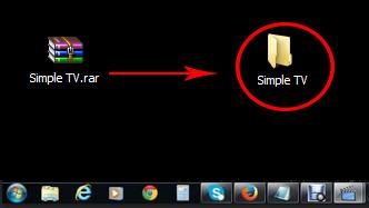 Configurar o aplicativo simple tv